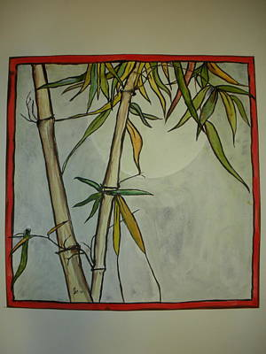 Fanciful Bamboo Poster