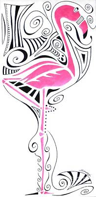 Fanciful Flamingo Poster