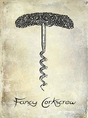 Fancy Corkscrew Poster by Jon Neidert