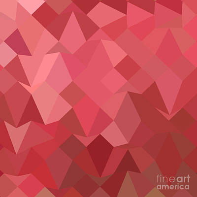 Fandango Pink Abstract Low Polygon Background Poster