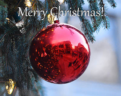 Faneuil Hall Christmas Card Boston Ma 2 Poster by Toby McGuire