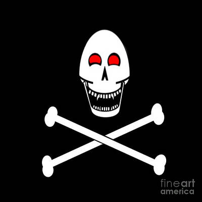 Fanged Jolly Roger Flag Poster by Frederick Holiday