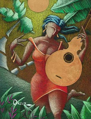 Fantasia Boricua Poster by Oscar Ortiz