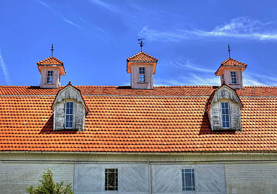 Fantastic Barn Roof With Dormer Windows And Cupolas Poster by William Sturgell