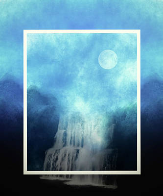Fantasy Fall Blue Abstract Poster