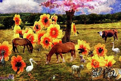 Fantasy Farm Poster by Judi Saunders