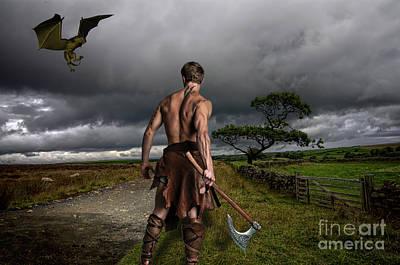 Fantasy Warrior Poster by Steev Stamford