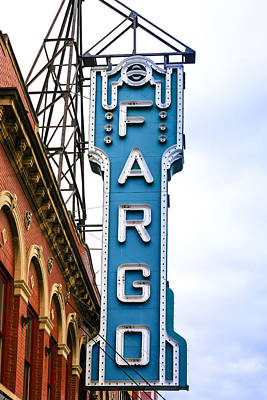 Fargo Blue Theater Sign Poster