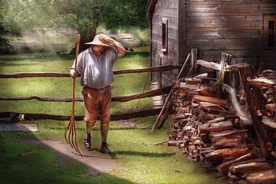 Farm - Farmer - Chores Poster by Mike Savad