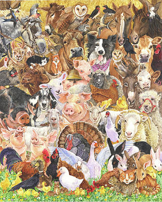 Farm Animals Poster by Wendy Edelson