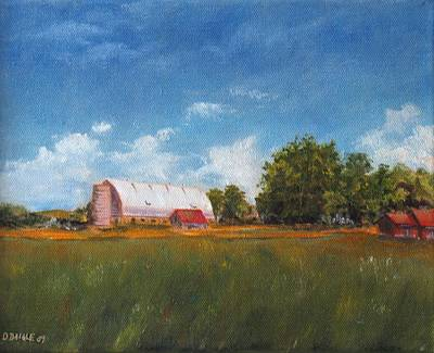 Poster featuring the painting Farm by Diane Daigle