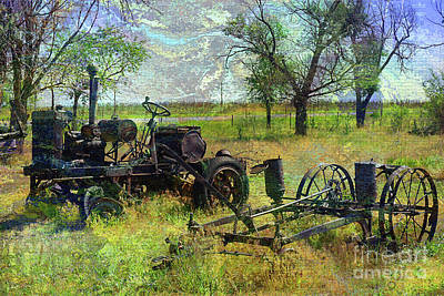 Farm Equipment Poster by Deborah Nakano