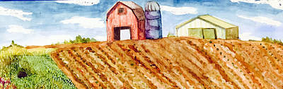 Farm In Spring Poster by Jame Hayes
