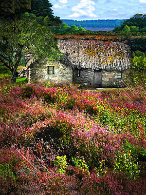 Farm In The Heather Poster