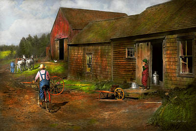 Farm - Life On The Farm 1940s Poster by Mike Savad