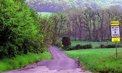 Poster featuring the photograph Farm Road by Susan Carella