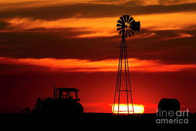 Poster featuring the photograph Farm Silhouettes by Brad Allen Fine Art