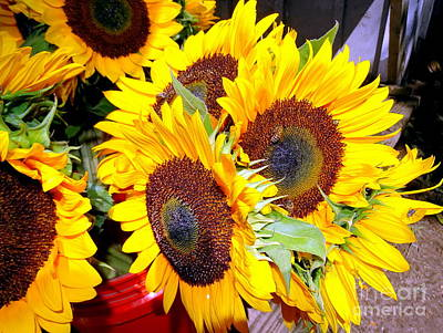Farm Stand Sunflowers #1 Poster by Ed Weidman