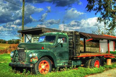 Farm Stand Truck Poster by Terry McCarrick