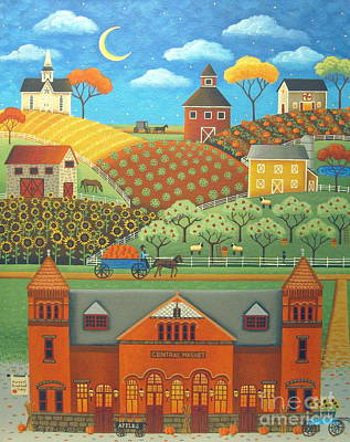 Farm To Market Poster by Mary Charles