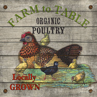 Farm To Table Poultry-jp2630 Poster by Jean Plout