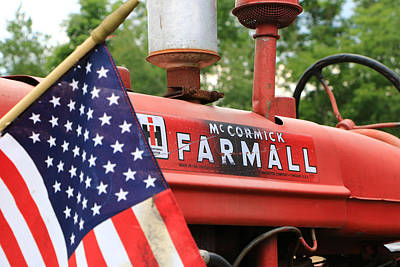 Poster featuring the photograph Farmall 2 by Rick Morgan