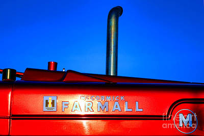 Farmall Sunset Poster by Olivier Le Queinec