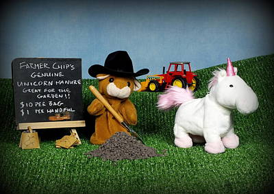 Farmer Chip's Genuine Unicorn Manure Poster by Piggy