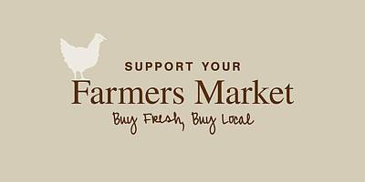 Poster featuring the digital art Farmers Market by Nancy Ingersoll