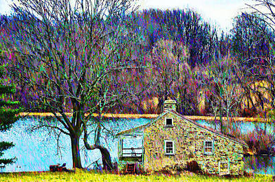 Farmhouse By The Lake Poster by Bill Cannon