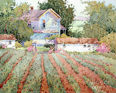 Farmhouse I Saw In Virginia Poster by Joyce Hicks