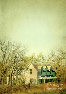 Farmhouse In Arkansas Poster by Jill Battaglia