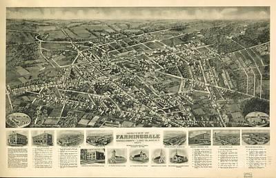 Farmingdale, Nassau County, Long Island, N.y. 1925 Poster by Baltzgar