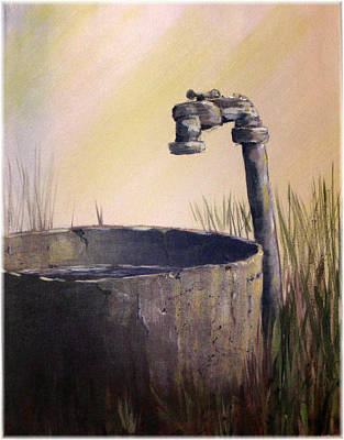 Farmyard Faucet Poster by Kenneth McGarity