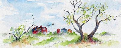 Farmyard From Afar Poster