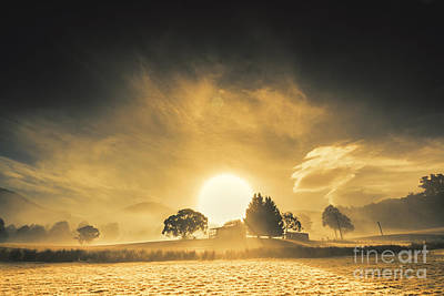 Farmyards And Silhouettes Poster by Jorgo Photography - Wall Art Gallery