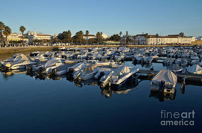 Faro City Marina At Late Afternoon. Algarve Portugal Poster