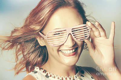 Fashion Eyewear Pin-up Poster by Jorgo Photography - Wall Art Gallery