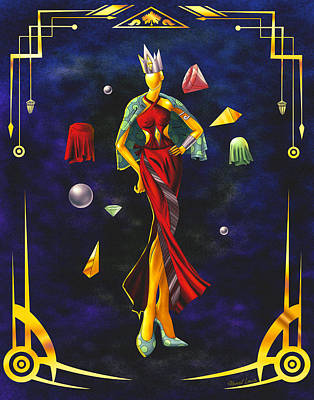 Fashion Goddess Illustration No.1 Poster