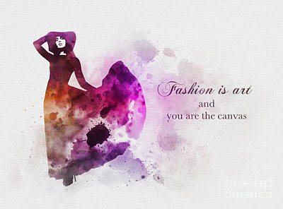 Fashion Is Art Poster