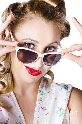 Fashionable Woman In Sun Shades Poster