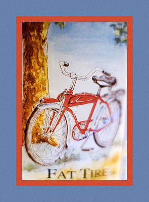 Fat Tire Ale Poster by Carol Leigh