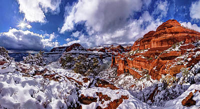 Poster featuring the photograph Fay Canyon Snowfall 2 by ABeautifulSky Photography