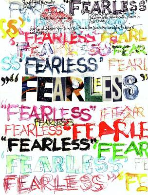 Fearless Poster by Carolyn Weltman