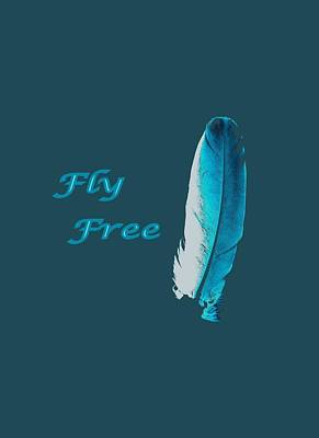 Feather Of Free Flight Poster by Aliceann Carlton