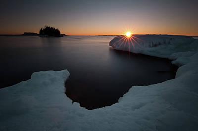 February Sunrise In Sturgeon Bay Poster
