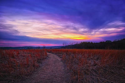 February Sunset And Path At Retzer Nature Center Poster by Jennifer Rondinelli Reilly - Fine Art Photography