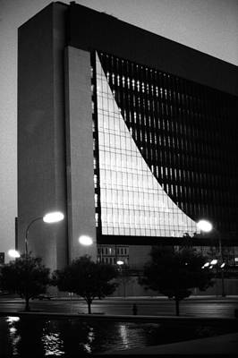 Federal Reserve Building At Twilight Poster