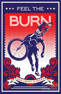 Feel The Burn Poster by Sassan Filsoof