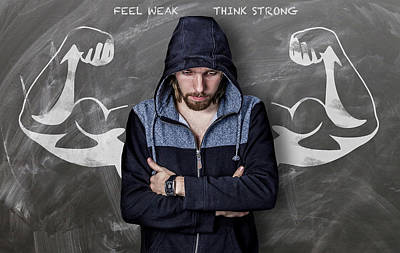 Feel Weak Think Strong Poster